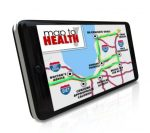 Map Health application, program software smart phone navigate wa
