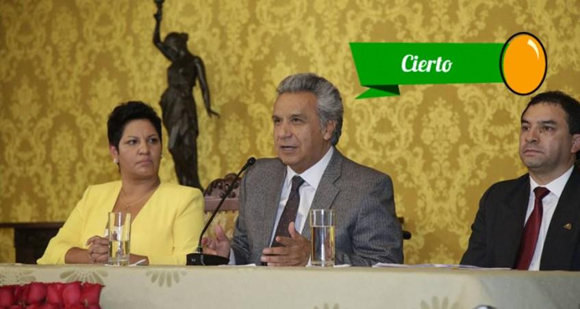 El presidente Lenín Moreno presentó a la Asamblea la proforma presupuestaria 2018