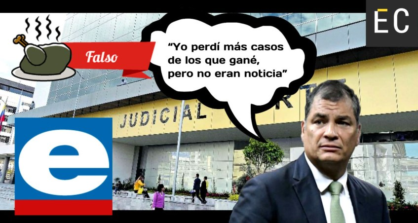 Correa se refiere a los casos que perdió