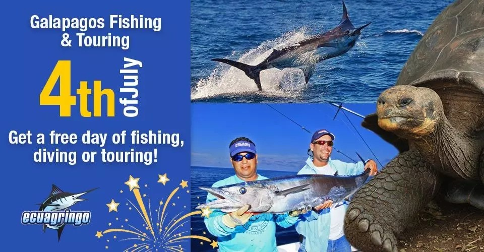 Galapagos Fishing & Touring 4th of July Special – Get a free day of fishing, diving or touring!