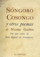 Portada de una edición cubana de Sóngoro cosongo de 1942.