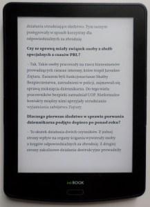 inkBOOK Prime - czytanie