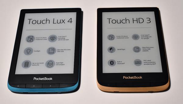 Porównanie czytników PocketBook Touch HD 3 i Touch Lux 4