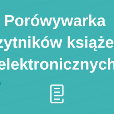 Rusza porównywarka czytników książek elektronicznych!