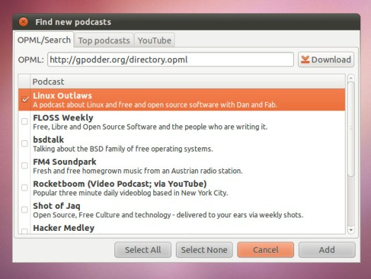 Default Podcast Links
