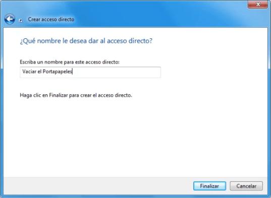 Acceso directo - paso 2