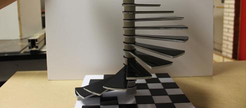 un escalier pour illustrer la formation en bâtiment