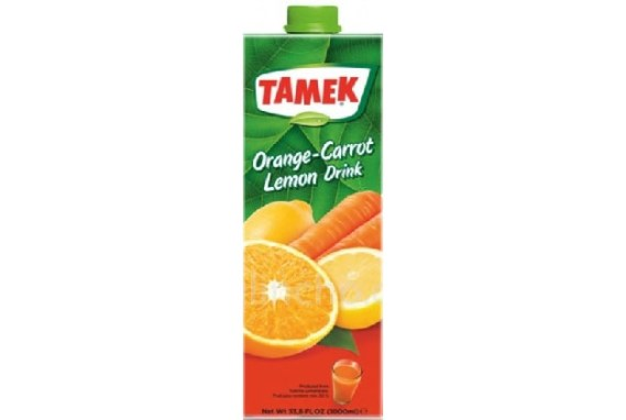 Tamek Juice 12X1Lt Oran.Carr.Lem. Drink