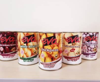 Eva Borlotti Beans Boiled Tr 12X400Gr
