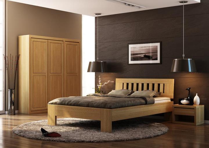 Sypialnia łóżko drewniane