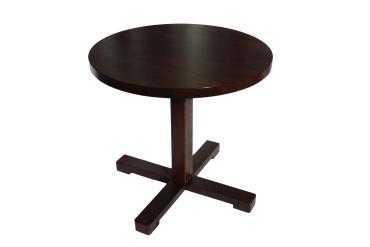 stolik okrągły z litego drewna bukowego