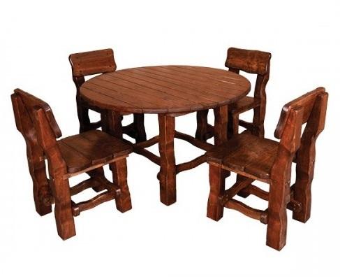 Stół okrągły do ogrodu