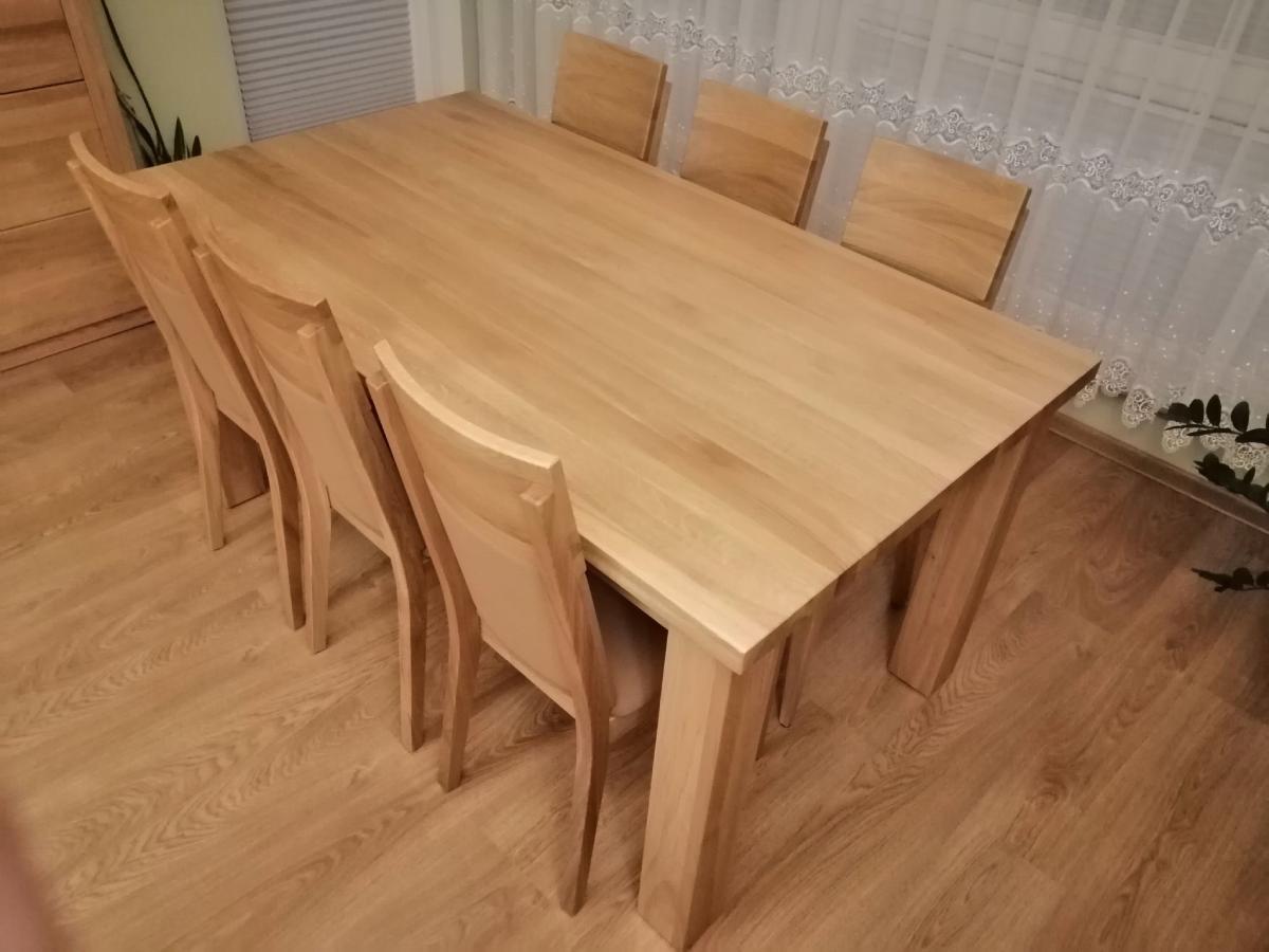 stół dębowy naturalny bezsęczny
