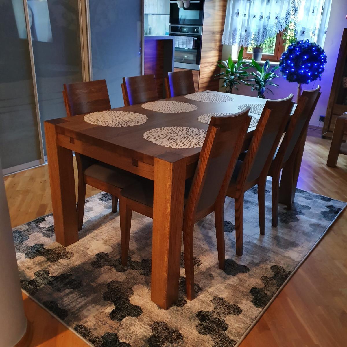 dębowy stół model s1