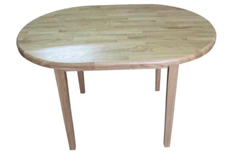 Stół owalny wykonany z drzewa dęboweg