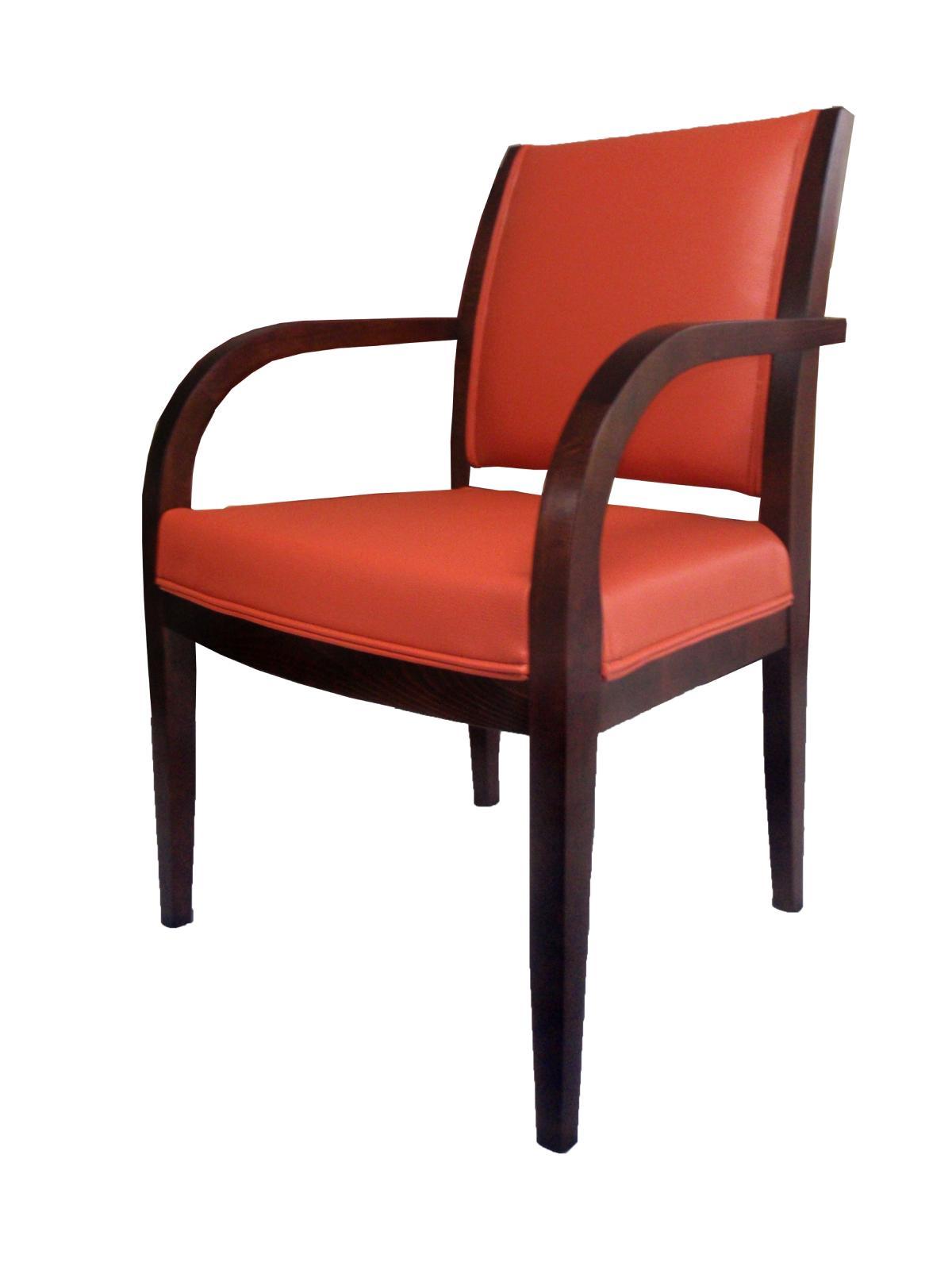 Wygodny dębowy mały fotel