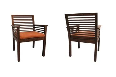 nowoczesne fotele z litego drewna