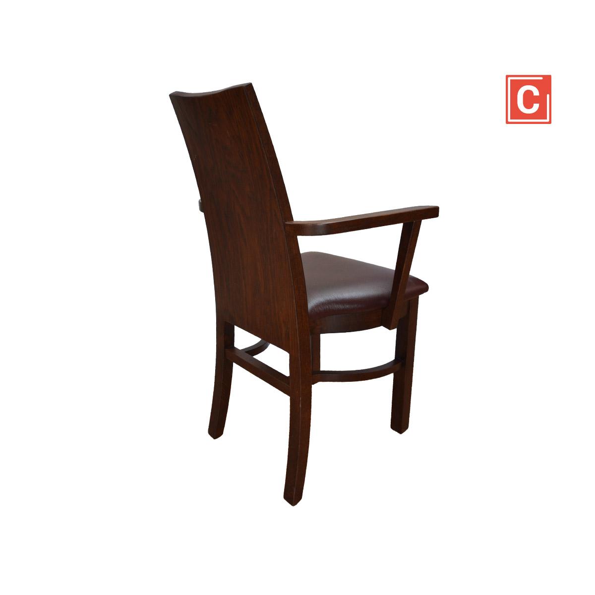 krzesło z podłokietnikiem drewniane