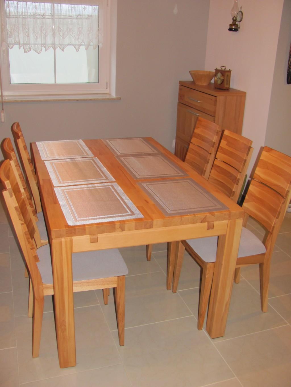 Meble do salonu stolik kawowy z szufladką stół drewniany z krzesłami