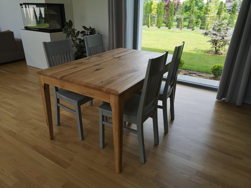 Stół s4 z dębu sękatego