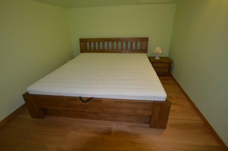 Łóżko bukowe drewniane ze skrzynią
