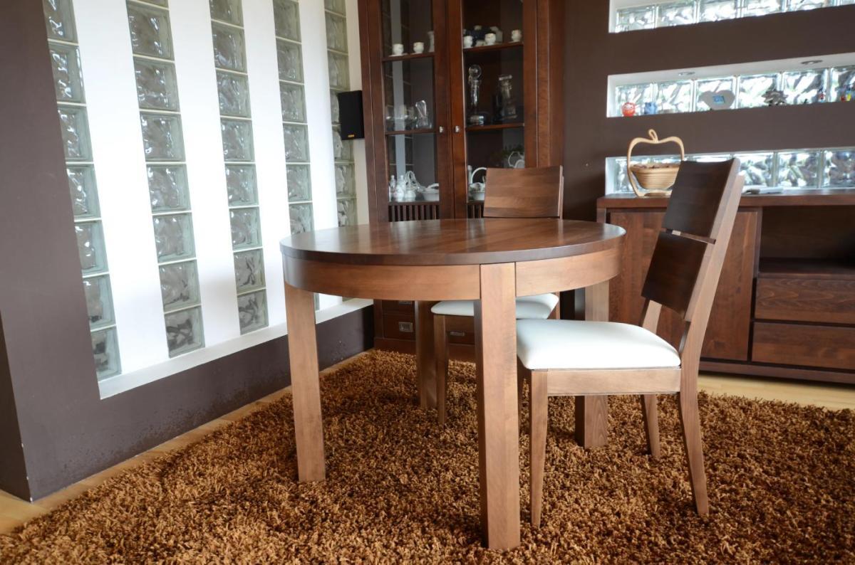 stół z litego drewna okrągły blat