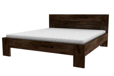 łóżko z zagłówkiem na prosto