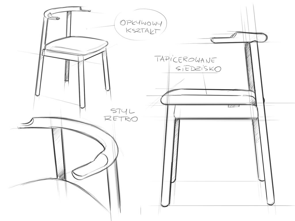 krzesło w stylu retro