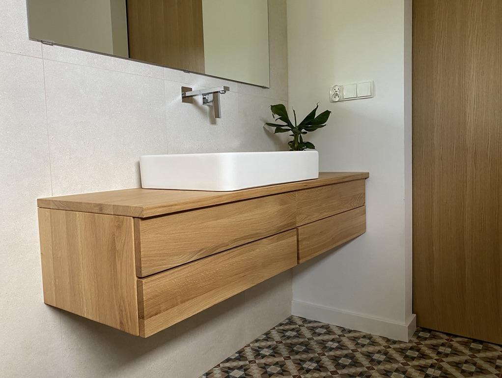 łazienka meble dębowe