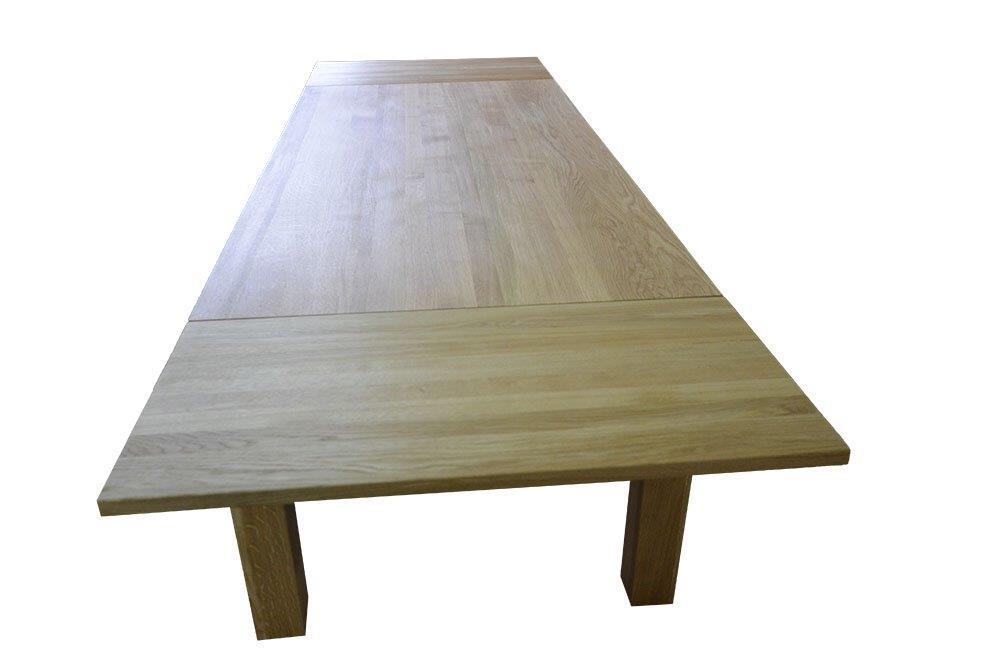 stół dębowy naturalny rozkładany