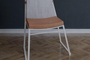 krzesło ogrodowe sztapolowane Marconi