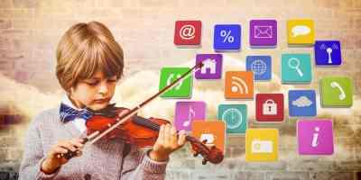 violin boy room media icons