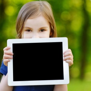 child tablet outdoor