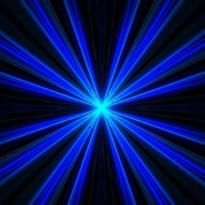 spotlight blue