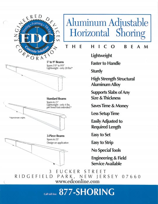 aluminum adjustable horizontal shoring