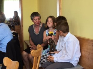 Familie des Preisträgers, Dagmar und Kinder