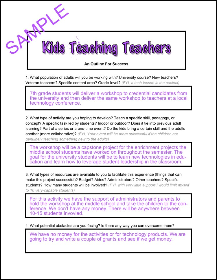 Kids Teaching Teachers- An Outline for Success-1
