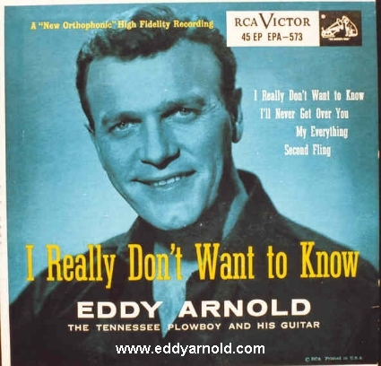 Image result for eddy arnold i really don't want to know