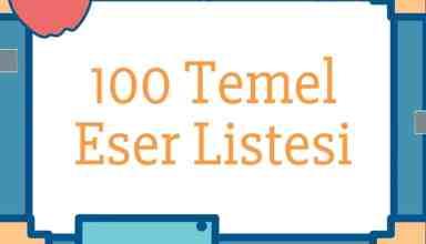 100 Temel Eser Listesi