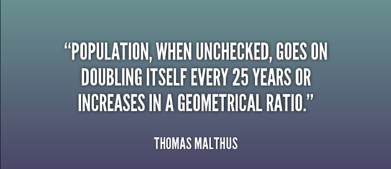 Population Day Thoughts by thomas malthus
