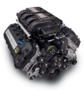 EDELBROCK SUPERCHARGED 50L COYOTE CRATE ENGINE (700 HP & 606 TQ) WITH ELECTRONICS AND