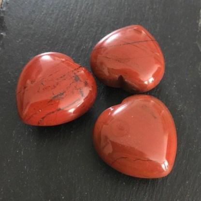 jaspis rood hartje gepolijst