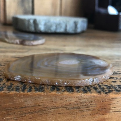 agaat mini schijfje gepolijst naturel mineralen