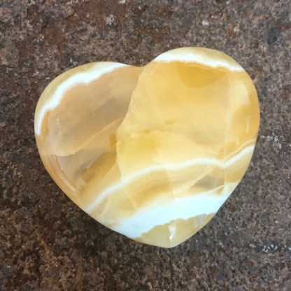 calciet oranje hart gepolijst mineralen