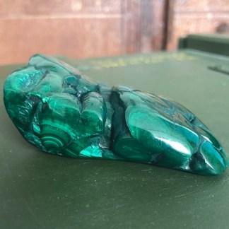 malachiet vrije vorm gepolijst mineralen