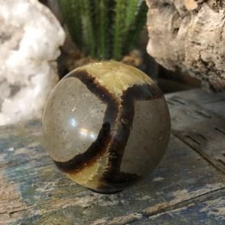 Septarie Bol gepolijst mineralen