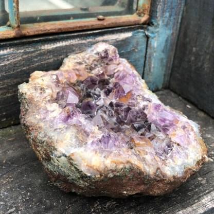 amethist cluster ruw nr2 brazilie mineralen