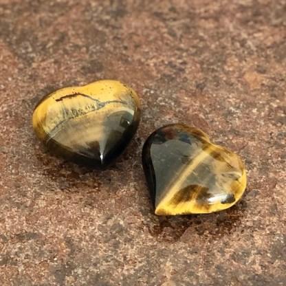 tijgeroog gepolijst hartje mineralen