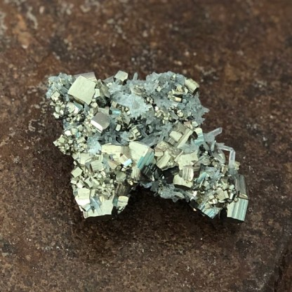 Chalcopyriet Galeniet BergKristal de shatkamer mineralen ruw
