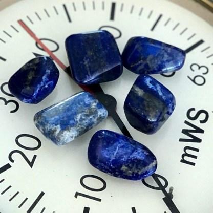 lapis lazuli trommelstenen met pyriet MINERALEN